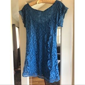 Nordstrom blue laced shift dress